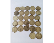 www.aukcije.hr - Numizmatika: 135 grama srebro, 27x 1 dinar 1915